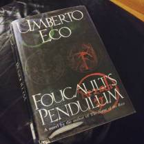 """76/150 (Aug 24, 2016) """"Foucault's Pendulum"""" by Umberto Eco. """"It wasn't that he refused to bow to the lust for power; he refused to bow to nonmeaning. He somehow knew that, fragile as our existence may be, however ineffectual our interrogation of the world, there is nevertheless something that has more meaning than the rest."""" This was everything Dan Brown wishes he could have written, but didn't have the depth of knowledge or the command of language to ever attempt. I began this book in March because I had never read any of Eco's novels, and it is now almost September. I am both mentally exhausted and oddly satisfied, and though I might not try another Eco novel for a few years at least, I am glad I finally checked it off the list. Read this book to understand how to write, and know that not only is the author phenomenal, but his translator, William Weaver, is phenomenal. #read2016 #fortheloveofthepage #bookfeet #booksintranslation #umbertoeco"""